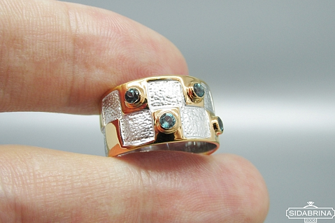 Žiedas su topazais - ZDM1290