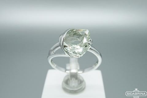 Žiedas su žaliu ametistu - ZDM1100