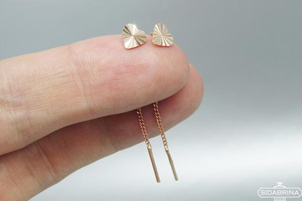 Auksiniai auskarai - AUA028