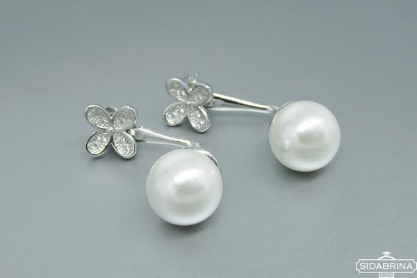 Auskarai su perlais - AUM1048