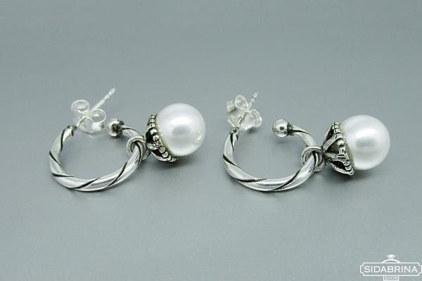 Auskarai su perlais - AUM1063