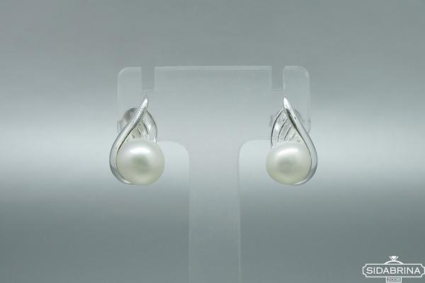 Auskarai su perlais - AUM2056