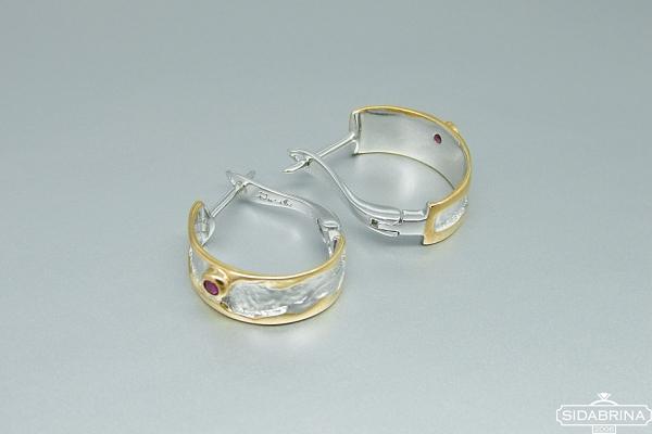 Auskarai su rubinais - AUM1583