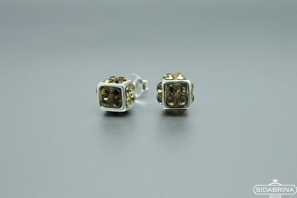 Auskarai su Svarovski kristalais - AUM874