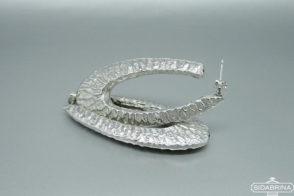 Itališki sidabriniai auskarai - AUM011