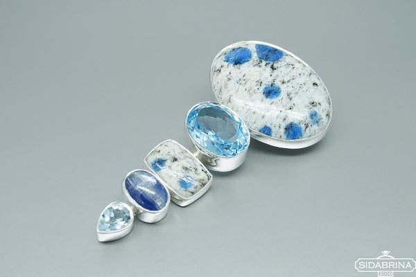 Pakabukas su natūraliais akmenimis - PAM673
