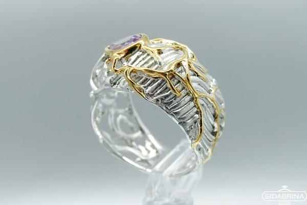 Žiedas su ametistu - ZDM1192