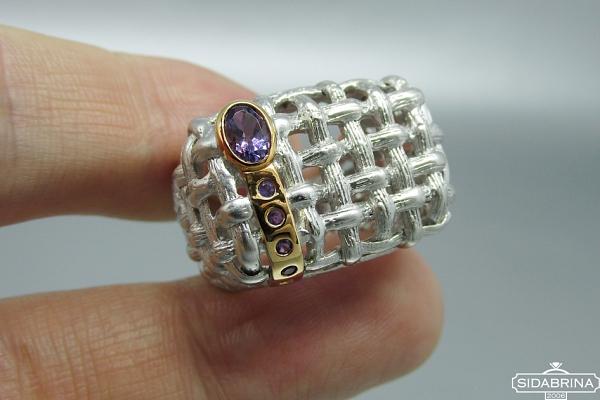 Žiedas su ametistu - ZDM1510