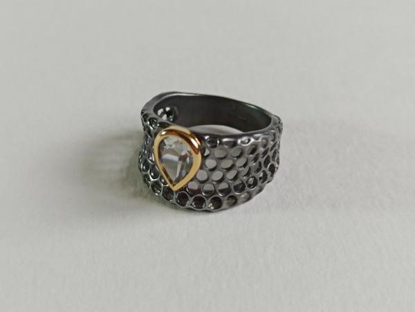 Žiedas su ametistu - ZDM1589