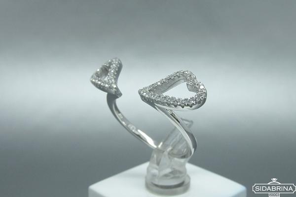 Žiedas su cirkoniais - ZDM577