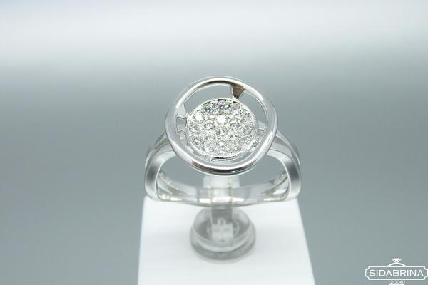 Žiedas su cirkoniais - ZDM847