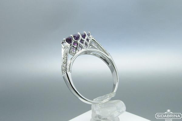 Žiedas su cirkoniais - ZDM975