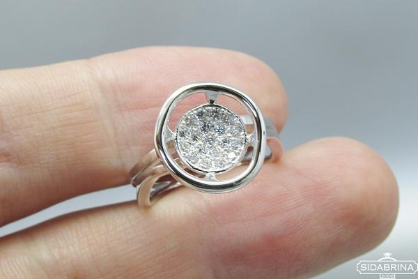 Žiedas su cirkoniais - ZDM1097