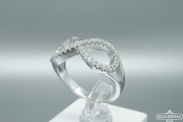 Žiedas su cirkoniais - ZDM1227
