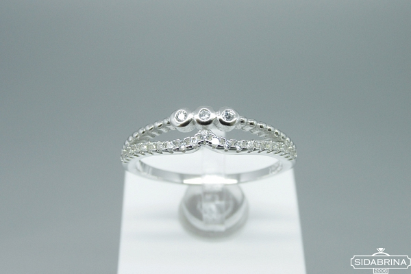 Žiedas su cirkoniais - ZDM1236