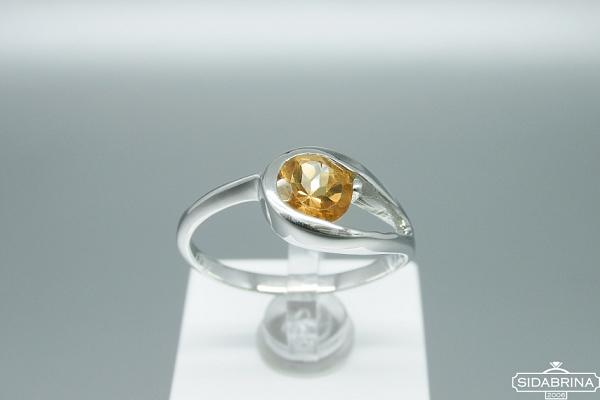 Žiedas su citrinu - ZDM1272