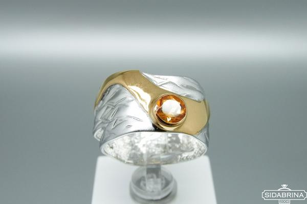 Žiedas su citrinu - ZDM1299