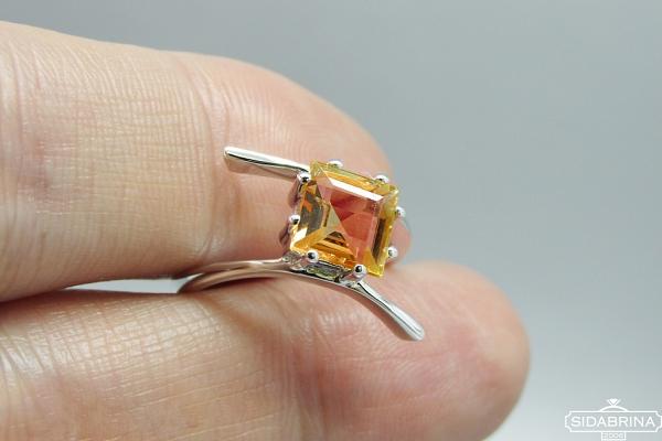 Žiedas su citrinu - ZDM1347
