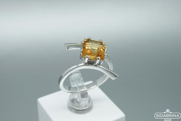Žiedas su citrinu - ZDM1348