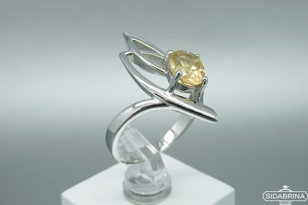 Žiedas su citrinu - ZDM1489