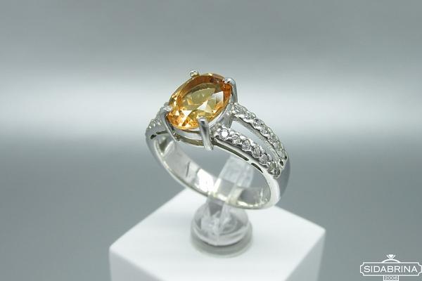 Žiedas su citrinu - ZDM1502