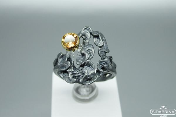 Žiedas su citrinu - ZDM1514