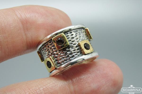 Žiedas su dūminiu kvarcu - ZDM1403