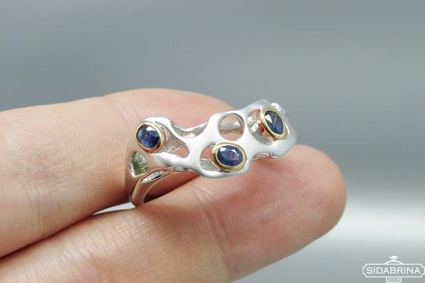 Žiedas su Londono topazais - ZDM1125