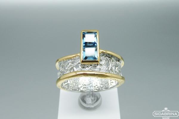Žiedas su Londono topazu - ZDM1183
