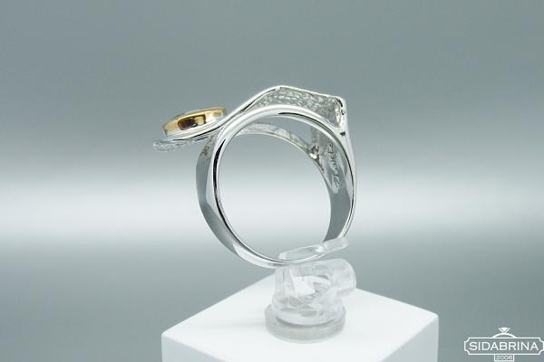 Žiedas su Londono topazu - ZDM1207