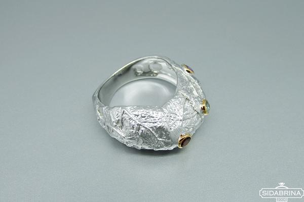 Žiedas su natūraliais akmenimis - ZDM1292