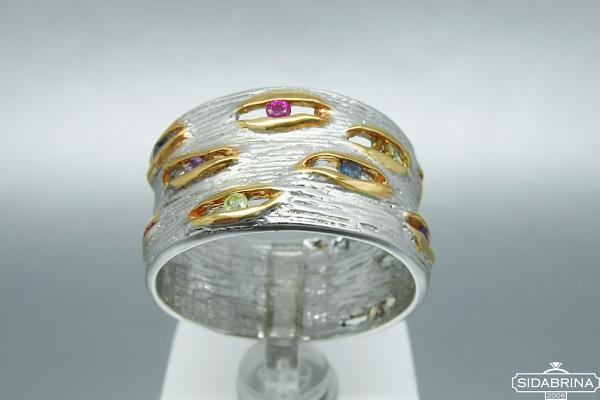 Žiedas su natūraliais akmenimis - ZDM685