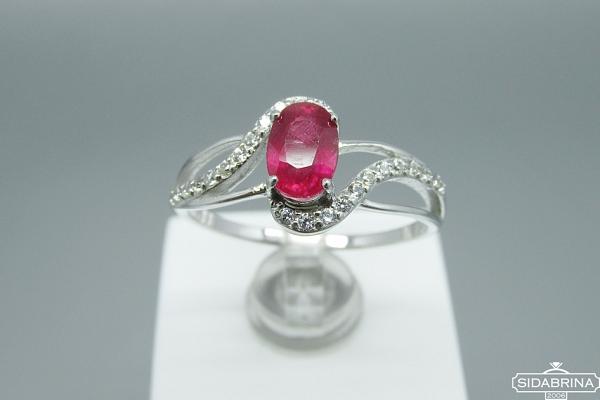 Žiedas su natūraliu akmenimi - ZDM709