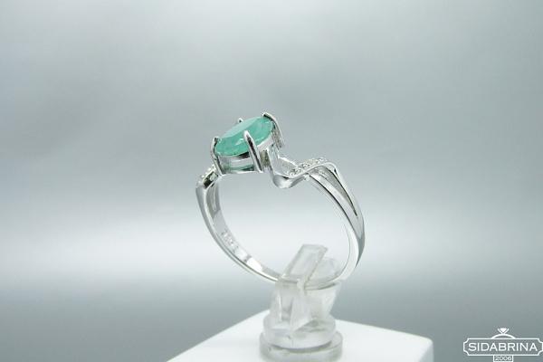 Žiedas su natūraliu akmenimi - ZDM844