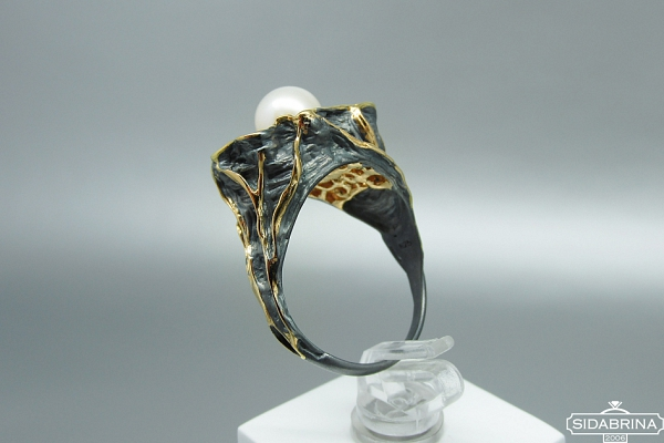 Žiedas su perlas - ZDM1517