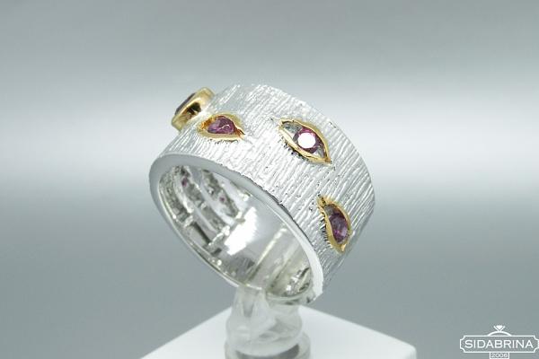 Žiedas su rodolitu - ZDM856
