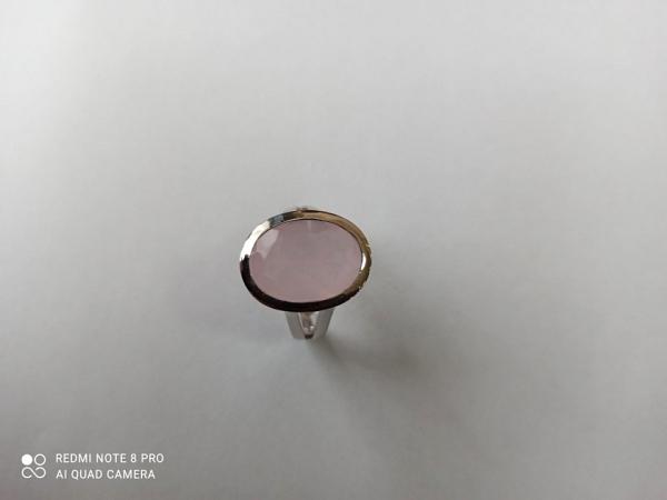 Žiedas su rožiniu kvarcu - ZDM1558
