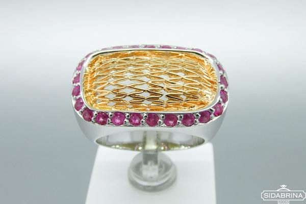 Žiedas su rubinais - ZDM929