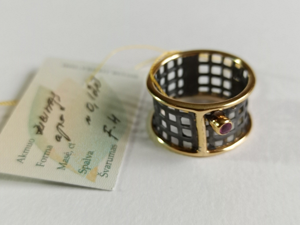 Žiedas su rubinu - ZDM1591