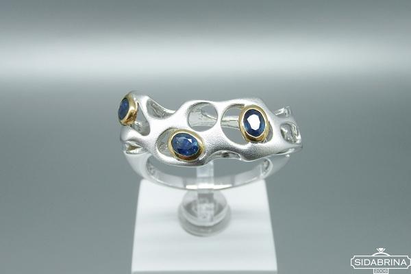 Žiedas su safyrais - ZDM1258