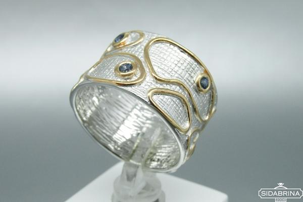 Žiedas su safyrais - ZDM694