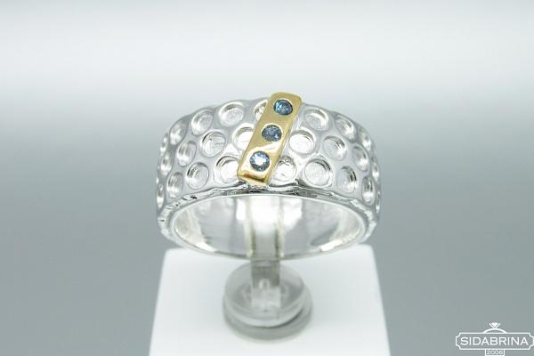 Žiedas su safyrais - ZDM902