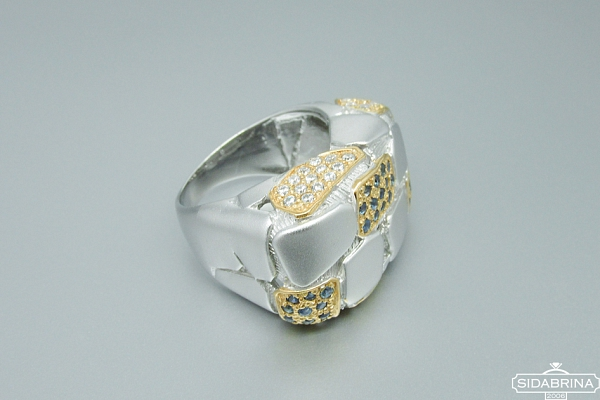 Žiedas su safyrais - ZDM912