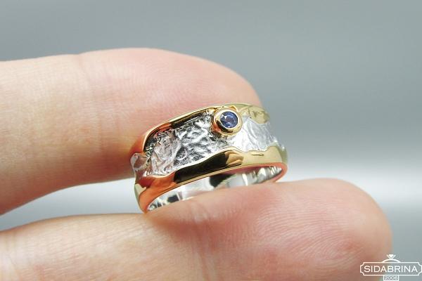 Žiedas su safyru - ZDM1245