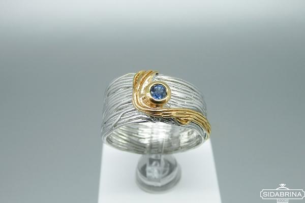 Žiedas su safyru - ZDM1420