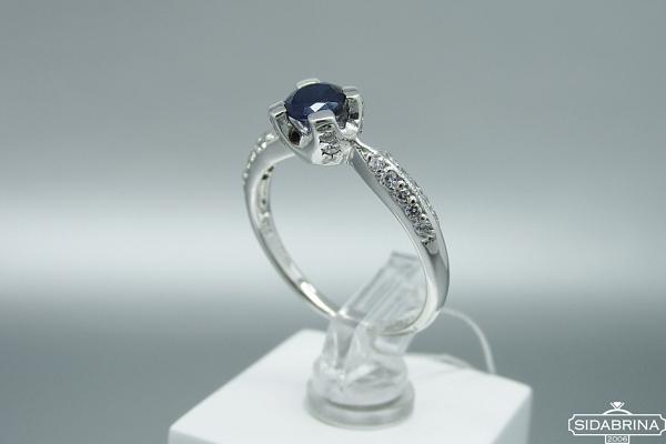 Žiedas su safyru - ZDM1498