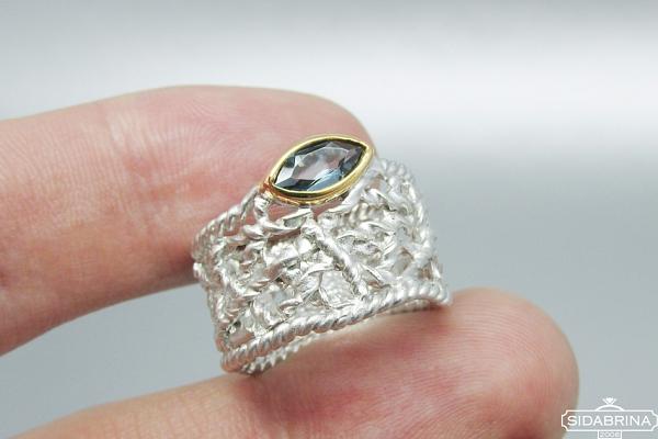 Žiedas su topazu - ZDM1269
