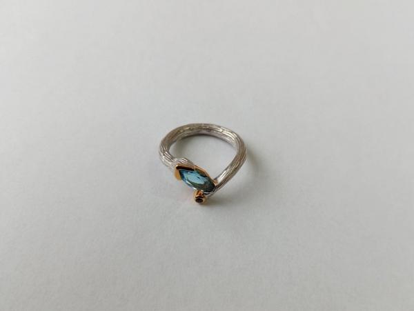 Žiedas su topazu - ZDM1556