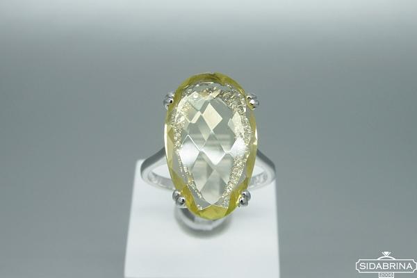 Žiedas su žaliu ametistu - ZDM1484